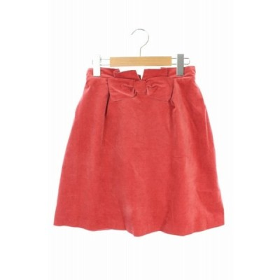 プロポーション ボディドレッシング PROPORTION BODY DRESSING スカート ミニ 台形 フェイクスエード リボンモチーフ 2 赤