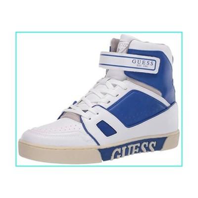【新品】GUESS Men's Allston Sneaker, White, 10(並行輸入品)