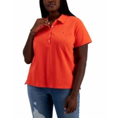 トミー ヒルフィガー レディース シャツ トップス Plus Size Solid Polo Shirt Grenadine