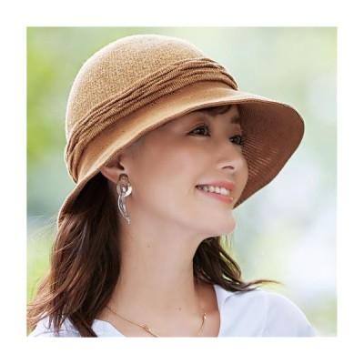 レディースファッション レディース ファッション小物 帽子 やわらか絹のツバ広UVハット |2209-433600
