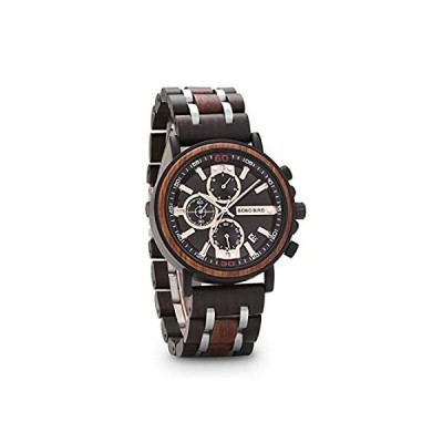 Wooden Watches for Men Luxury Military Multi-Function Fashion Date Display