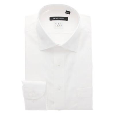 【NON IRON STRETCH】ワイドカラードレスシャツ 無地 〔EC・BASIC〕