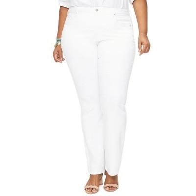 エヌワイディージェイ レディース デニムパンツ ボトムス Barbara High Waist Bootcut Jeans OPTIC WHIT