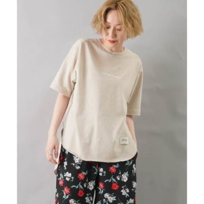 tシャツ Tシャツ AMERICANA アメリカーナ ラフィーバックロングTee