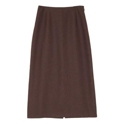 ユアーズ ur's リネンライクタイトスカート (ブラウン)
