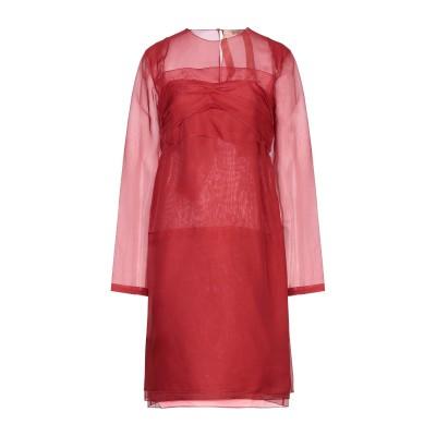 ヌメロ ヴェントゥーノ N°21 ミニワンピース&ドレス レッド 42 シルク 100% ミニワンピース&ドレス