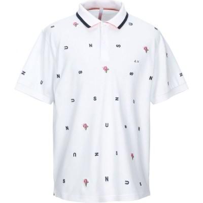 サン シックスティーエイト SUN 68 メンズ ポロシャツ トップス polo shirt White