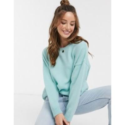 エイソス レディース ニット・セーター アウター ASOS DESIGN oversized chunky crew neck sweater Mint