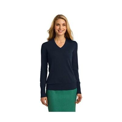 Port Authority Ladies V-Neck Sweater. LSW285 Navy XL並行輸入品 送料無料