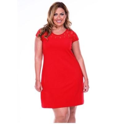 ホワイトマーク レディース ワンピース トップス Women's Plus Size Pelagia Dress