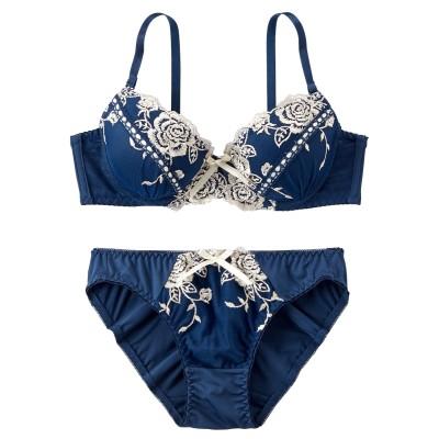 リボンステッチブラジャー・ショーツセット(B70/M) (ブラジャー&ショーツセット)Bras & Panties