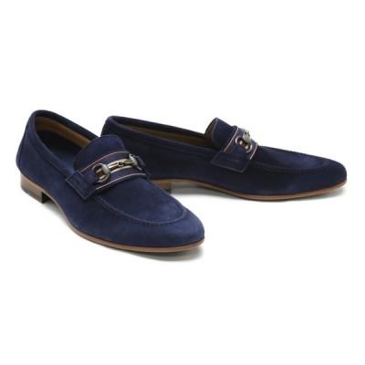 革靴 本革 ビジネスシューズ クインクラシコ QueenClassico メンズ ドレスシューズ 紳士靴 5066snvs ネイビースエード ビットローファー