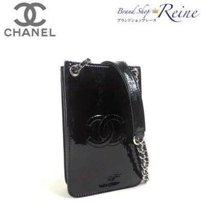 シャネル(CHANEL) COCOマーク チェーンショルダー ポシェット iPhone スマホ ケース A92304 新品同様 中古