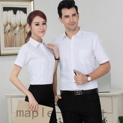 レディース半袖シャツ職業のシャツ大きいサイズカジュアルシャツインナーシャツOL通勤オフィス事務服入学式