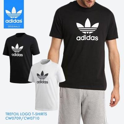 adidas Originals TREFOIL LOGO T-SHIRTS / アディダス オリジナルス メンズ トレフォイル Tシャツ TEE インナー シンプル 無地 白 黒 ブラック ホワイト