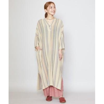 【チャイハネ】南インド織りモルジブワンピース