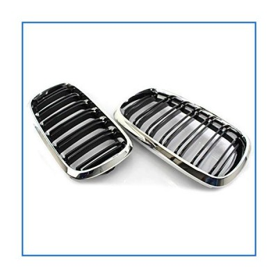 Jialuode Front Grill Cover Trim for BMW F15 X5 2014-2017 Front Bumper Frame Replacement1 Pair[並行輸入品]