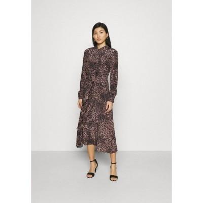 ゲス シャツ レディース トップス SELVAGGIA DRESS - Shirt dress - iconic brown