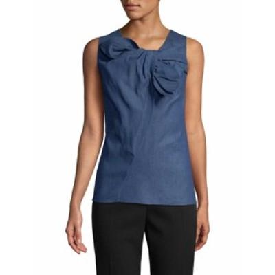 キャロライナヘレラ レディース トップス シャツ Bow-Accented Cotton Blouse