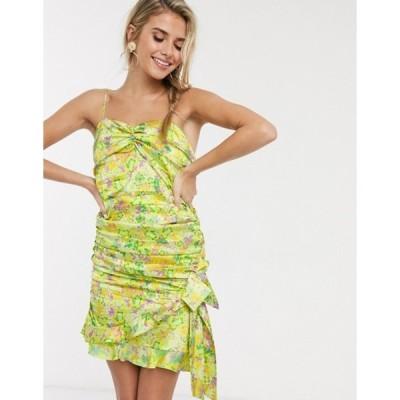 フォーラブアンドレモン レディース ワンピース トップス For Love & Lemons Dubois strappy mini dress