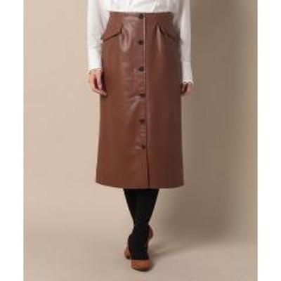 キャラオクルス合成皮革のタイトスカート