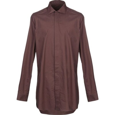 リック オウエンス RICK OWENS メンズ シャツ トップス solid color shirt Cocoa