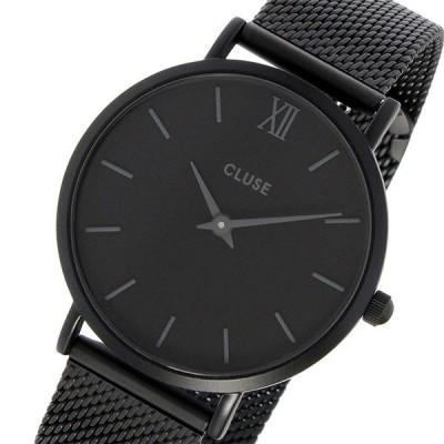 クルース CLUSE ミニュイ メッシュベルト 33mm レディース 腕時計 CL30011 フルブラック ブラック