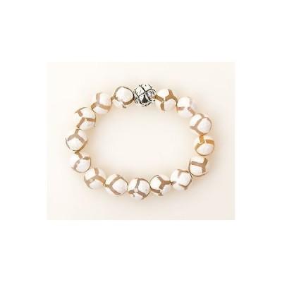ブレスレット 海外セレクション Simon Sebbag White Tortoise Agate Stretch Bracelet Sterling Silver Bead B106/WTA