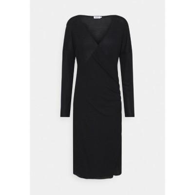 フィリッパコー ワンピース レディース トップス LEONIE WRAP DRESS - Jersey dress - black
