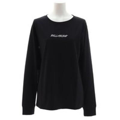 Tシャツ レディース 長袖 ロゴ AJ014053 BLK
