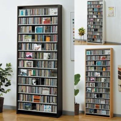 CDラック 大容量 幅80cm CD924枚収納 コレクター仕様CDラック CD 収納 木製 おしゃれ スリム デザイン プロ 業務用 ショップ 大量 本棚
