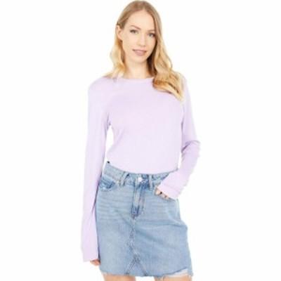 マイケルスターズ Michael Stars レディース Tシャツ トップス Kristen 1X1 Slub Crew Neck T-Shirt Pale Lilac