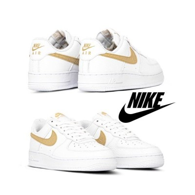 NIKE ナイキ Air Force 1 LV8 / White&Gold / 取寄品