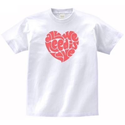 ビートルズ ALL NEE IS YOU LOVE バンド ロック Tシャツ 白