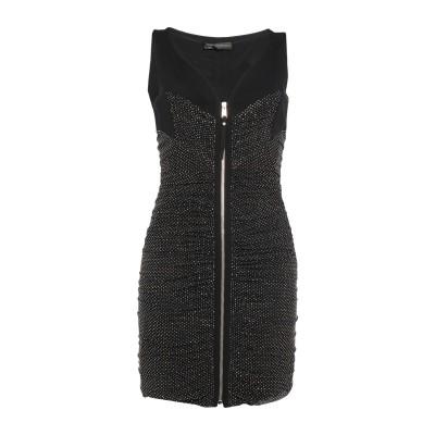 VERSACE ミニワンピース&ドレス ブラック 40 レーヨン 97% / ポリウレタン 3% ミニワンピース&ドレス