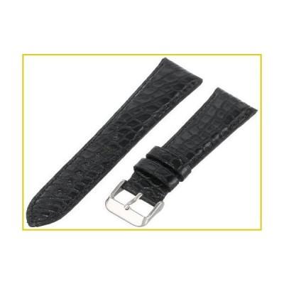 Hadley-Roma Men's MS2010RA-200 20mm Black Genuine Alligator Leather Watch Strap並行輸入品