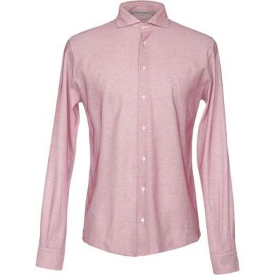 ラ フィレリア LA FILERIA メンズ シャツ トップス patterned shirt Coral