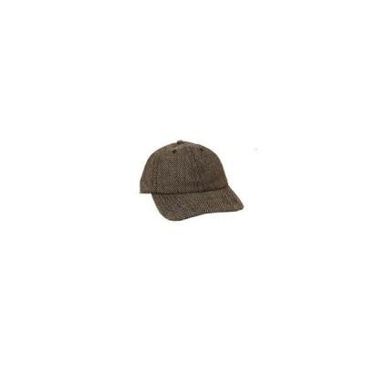 NEWHATTAN ニューハッタン ウールブレンドキャップ 帽子 ブラウンヘリンボーン