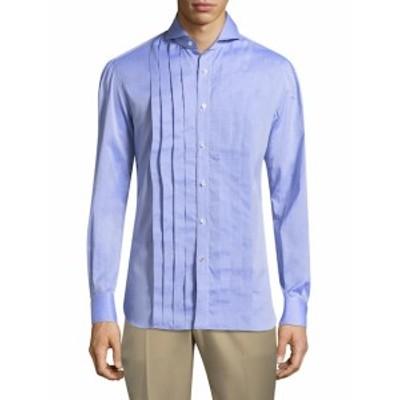 イザイア Men Clothing Pleated Dress Shirt