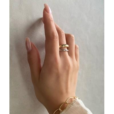 指輪 2連 シンプルデザインリング