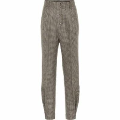 エトロ Etro レディース ボトムス・パンツ checked high-rise stretch-wool pants
