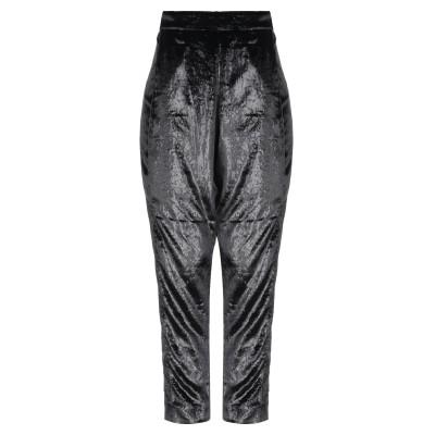 POIRET パンツ ブラック 34 ポリエステル 100% パンツ