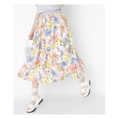 【クチュール ブローチ/Couture brooch】 シアーフルールフレアスカート