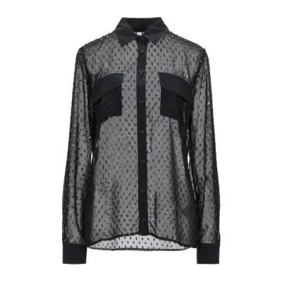 FRANKIE MORELLO 柄入りシャツ&ブラウス  レディースファッション  トップス  シャツ、ブラウス  長袖 ブラック
