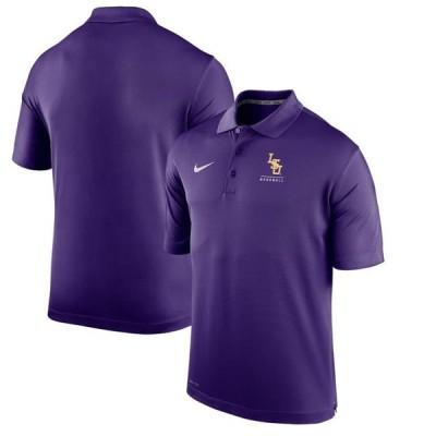 ユニセックス スポーツリーグ アメリカ大学スポーツ LSU Tigers Nike Varsity Baseball Performance Polo - Purple ポロス
