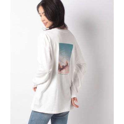 Melan Cleuge 【Melan Cleuge women】前ロゴ背フォトロンTee(オフ)【返品不可商品】
