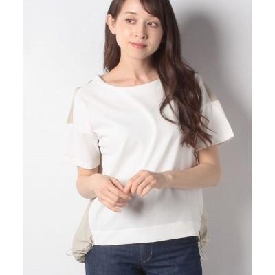 【ブージュルード】異素材バックギャザーTシャツ