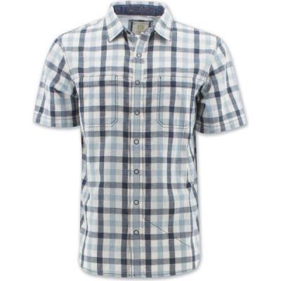 エコス Ecoths メンズ シャツ トップス Cam Shirt blue slate