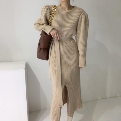 「12.15」Daily Update ~|🍒JULYEI🍒おしゃれなアクセントを楽々着て【ラムスリーブニットワンピース】💛 韓国のファッションコレクション ~