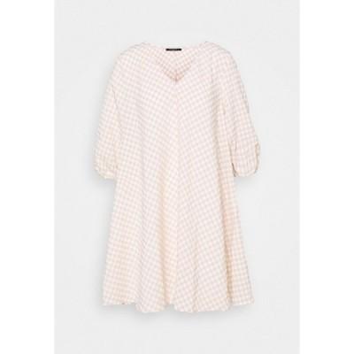 ブルンスバザー ワンピース レディース トップス SEER ALLURE DRESS - Day dress - sand/white check